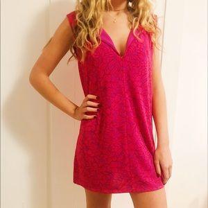 Ann taylor pink floral summer dress